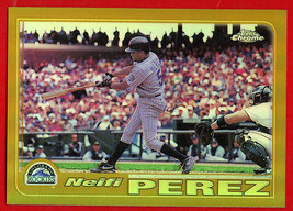 2001 Topps Chrome Gold Refractor Neifi Perez #521 Rockies - $9.89