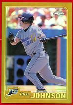 2001 Topps Chrome Gold Refractor Russ Johnson #454  Rays - $8.91