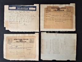 LOT 1921 antique WWI TELEGRAMS MACKEY SOLDIER KILLED fremont oh military... - $87.95