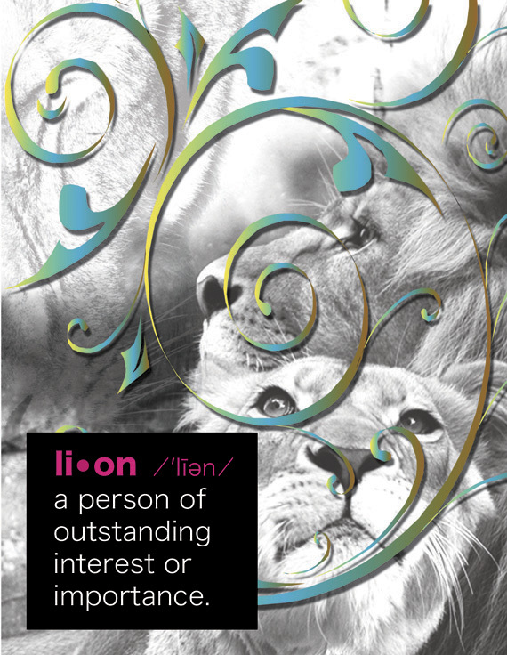 LION: Unique Blank Animal Philosophy Card