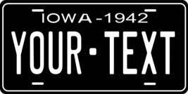 Iowa 1942 Personalized Tag Vehicle Car Auto License Plate - $16.75