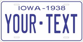 Iowa 1938 Personalized Tag Vehicle Car Auto License Plate - $16.75