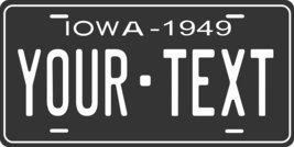 Iowa 1949 Personalized Tag Vehicle Car Auto License Plate - $16.75