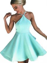 Fanmu Halter Neck Short Homecoming Dresses Cocktail Party Dress Mint US 12 - $79.99