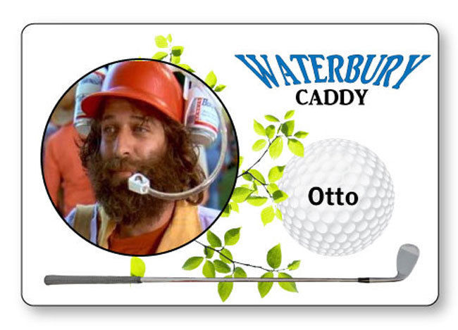 OTTO THE CADDY HAPPY GILMORE NAME BADGE PROP HALLOWEEN COSPLAY MAGNET  BACK