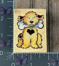 Rubber Stampede Fred Dog Holding Bone Rubber Stamp 2004 A2134D Delta Woo... - $4.70