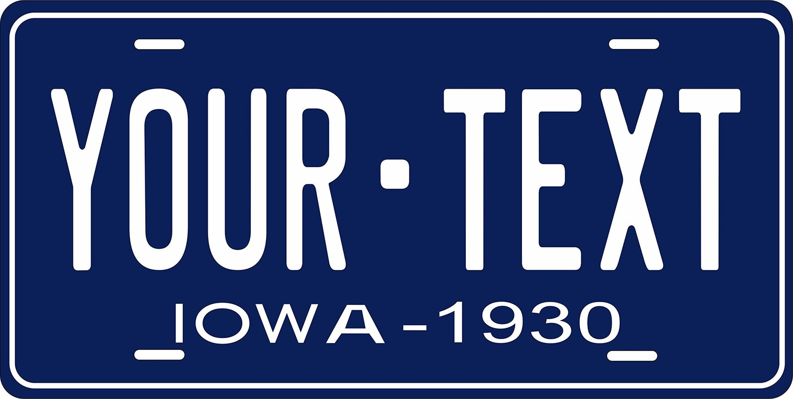 Iowa 1930 Personalized Tag Vehicle Car Auto License Plate