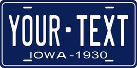 Iowa 1930 Personalized Tag Vehicle Car Auto License Plate - $16.75