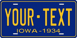 Iowa 1934 Personalized Tag Vehicle Car Auto License Plate - $16.75