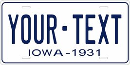 Iowa 1931 Personalized Tag Vehicle Car Auto License Plate - $16.75