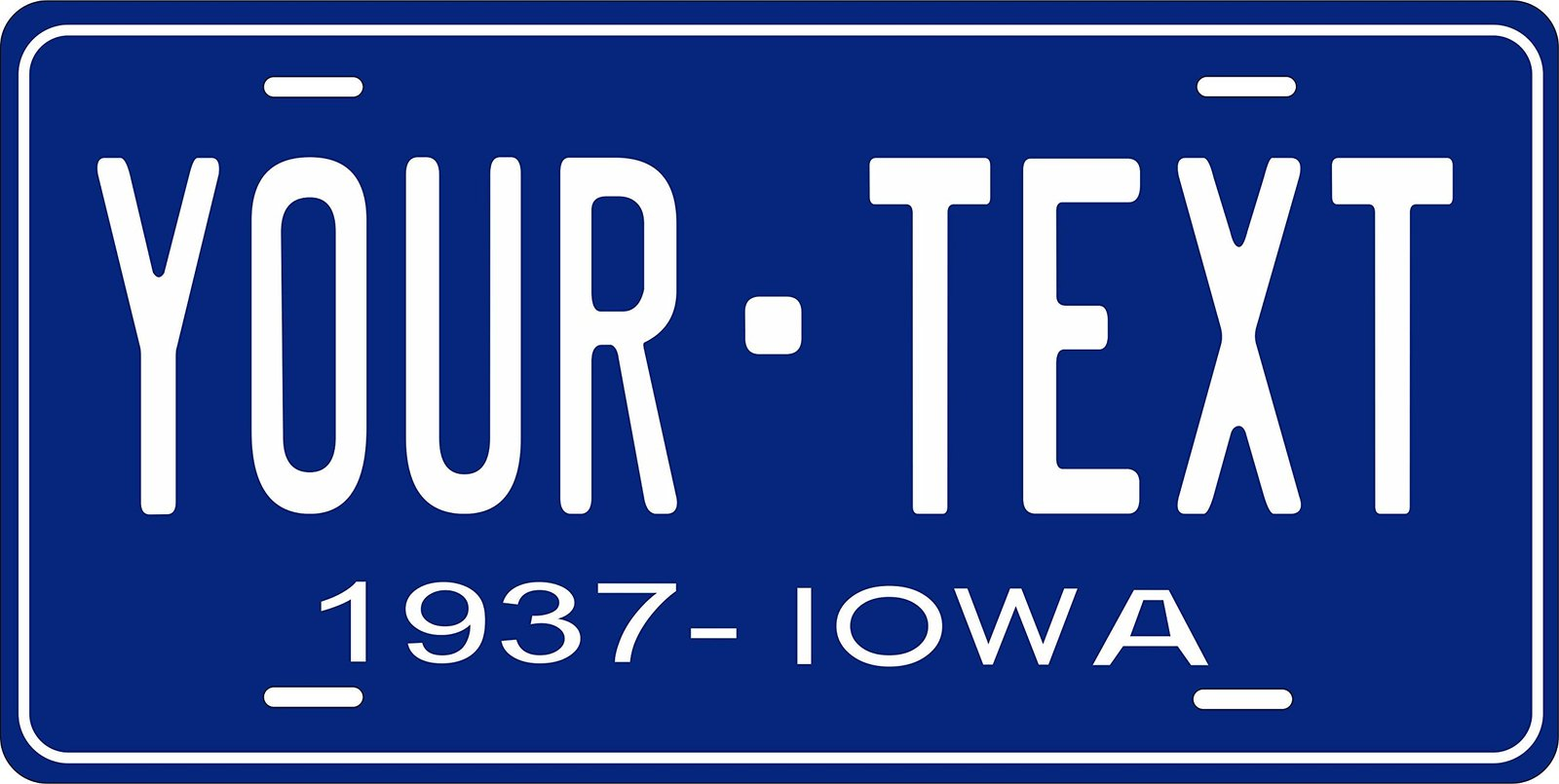 Iowa 1937 Personalized Tag Vehicle Car Auto License Plate