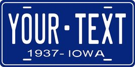 Iowa 1937 Personalized Tag Vehicle Car Auto License Plate - $16.75