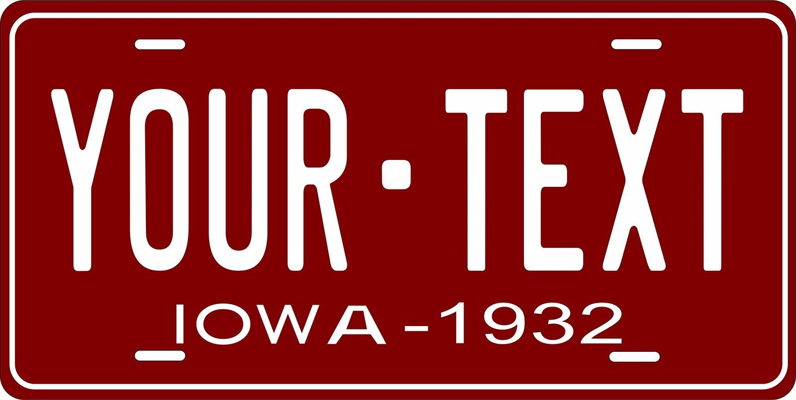 Iowa 1932 Personalized Tag Vehicle Car Auto License Plate