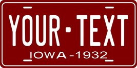 Iowa 1932 Personalized Tag Vehicle Car Auto License Plate - $16.75