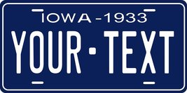 Iowa 1933 Personalized Tag Vehicle Car Auto License Plate - $16.75