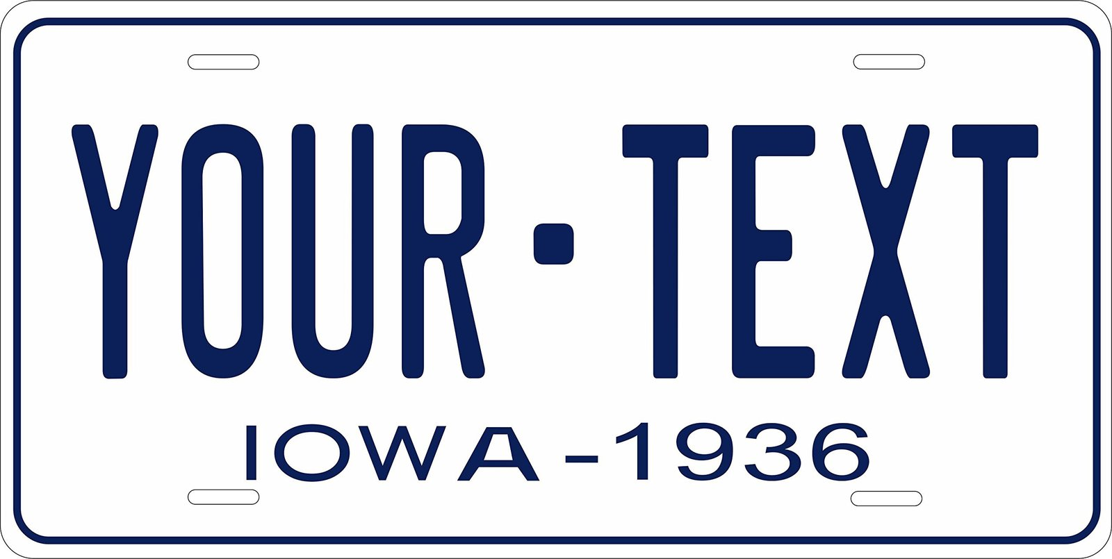 Iowa 1936 Personalized Tag Vehicle Car Auto License Plate