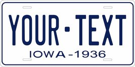 Iowa 1936 Personalized Tag Vehicle Car Auto License Plate - $16.75