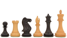 Handmade Wooden Weighted Staunton Chess Set Ebony Wood 4 Queens. D0138 - $268.99