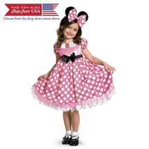 Disney Minnie Mouse Clubhouse Glow In The Dark Costume, Pink/White, X-Small - $34.05