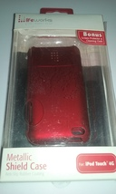 Lifeworks Red Metallic Shield Case For iPod Touch 4G Brand New In Package  - $9.99