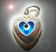 FREE W HALLOWEEN HAUNTED EYE HEART NECKLACE EXTREME LOVE PROTECTION MAGICK  - $0.00