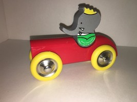 Babar  vintage styled wooden pull toy by vilac ... - $18.80