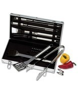 Chefmaster™ 22pc Stainless Steel Barbeque Barbecue BBQ Grill Cookware To... - £40.98 GBP