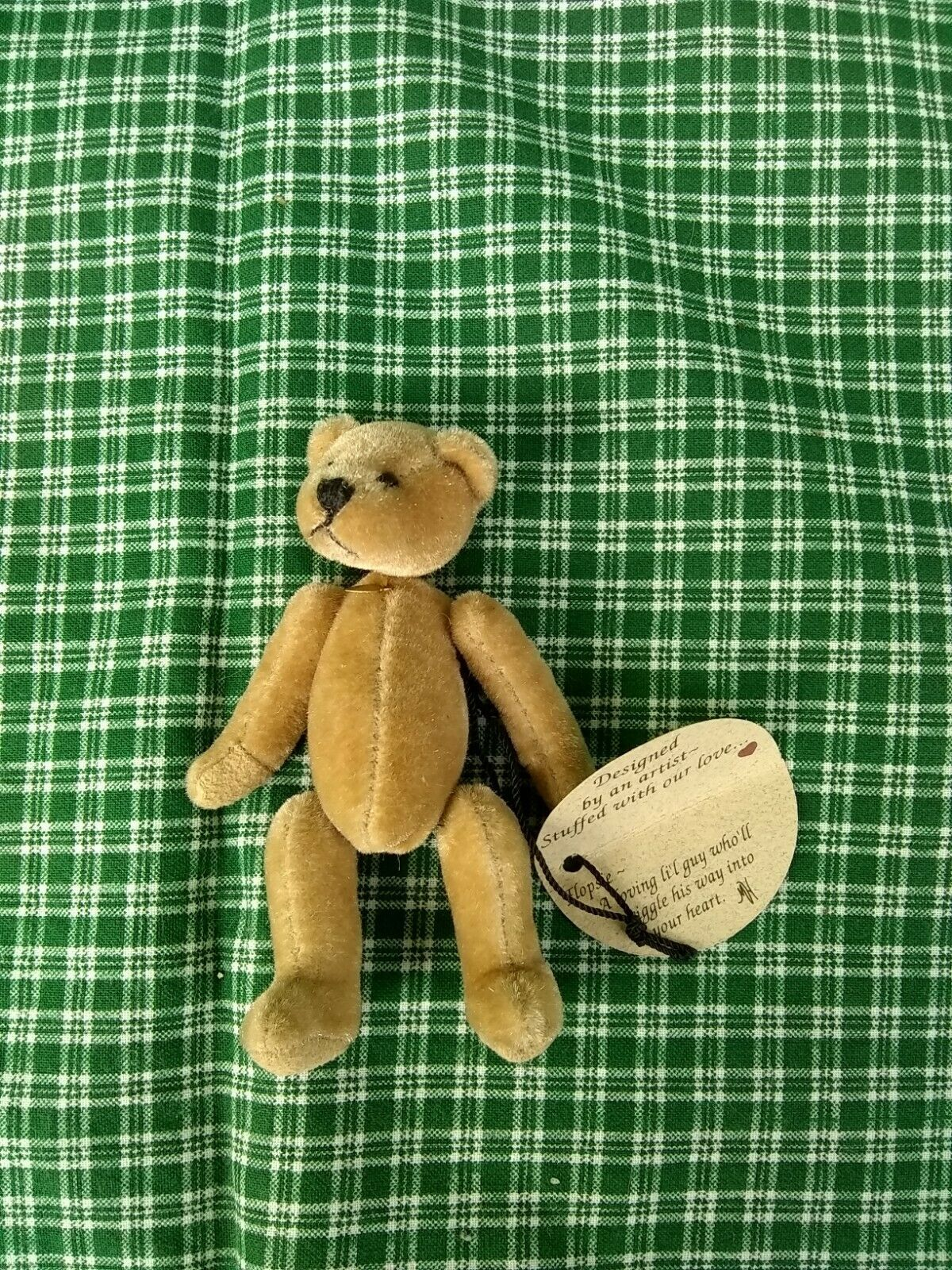 Flopsie Ganz Cottage Collectibles Teddy Bear Miniature 3.5 inches tall