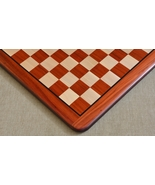 """Wooden Chess Board Blood Red Bud Rose Wood 18"""" - 45 mm D0118 - $227.99"""