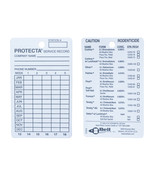 Rodent Bait Station Service Cards 100 Pack Protecta Service Record Card ... - $23.99