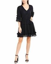 David Lerner Womens Natalie A-Line Dress, M, Blue - $121.13