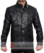 The Walking Dead Governor Real Black Leather Jacket -100% money Back gua... - $159.00