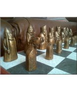 Isle of Lewis Chess Set - Antique Bronze and Ag... - $107.49