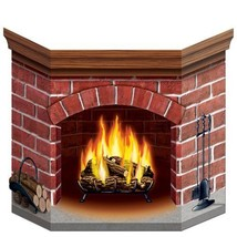 Brick Fireplace Stand-Up Party Accessory - 1 Piece - $8.90