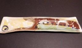 Studio Pottery Olive H'oeuvres Cheese Tray Plate BATTON CLAYWORKS Ashevi... - $27.09