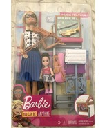 Blond Barbie Music Teacher & Student Doll Play Set With Instruments & Ch... - $34.95