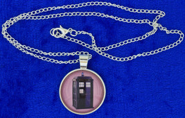Tardis Police Box Necklace Doctor Dr Who Chain Style Length Choice - $4.99+