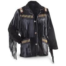 MEN'S WESTERN JACKET BLACK COWBOY LEATHER JACKE... - $169.00
