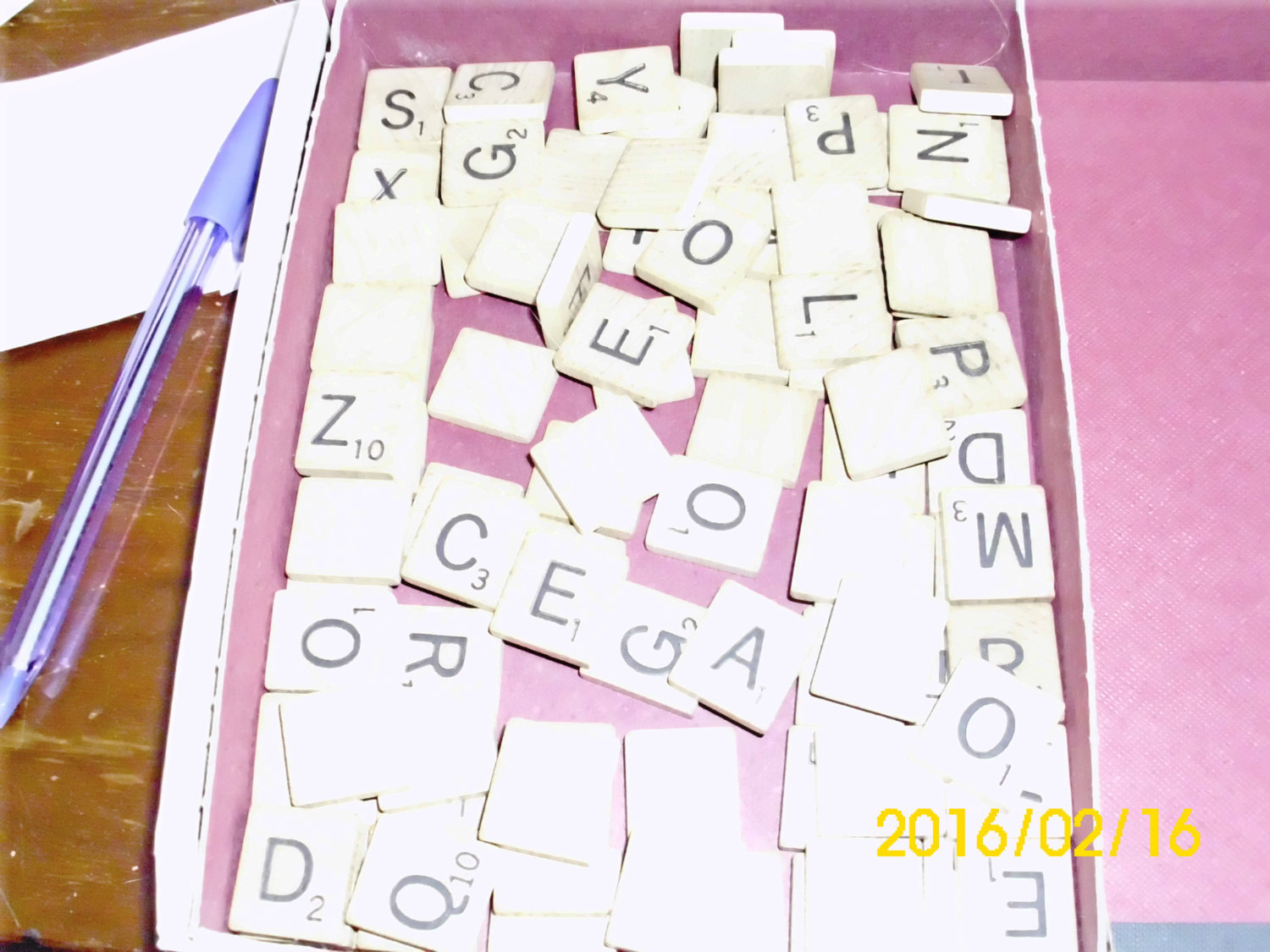97 Wooden Letters from Scrabble Game for Crafts Re-purpose Re-use