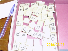 97 Wooden Letters from Scrabble Game for Crafts Re-purpose Re-use - $8.99