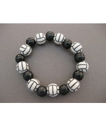 Volleyball Bracelet Stretch Handmade - $12.50
