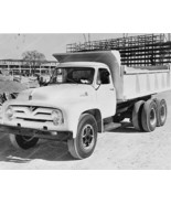 Ford 1955 Dump Truck 8 x10 Old Photo - $20.10