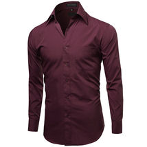 NEW Omega Italy Men's Dress Shirt Long Sleeve Solid Color Regular Fit 10 Colors image 8
