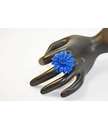 Leather Flower Ring - $9.00