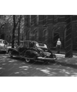 Black Cadillac 1940s On Chicago Street 8x10 Rep... - $19.98