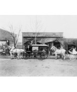Horse Drawn Hearse At Undertaker 1890s 8x10 Reprint Of Old Photo - $19.88
