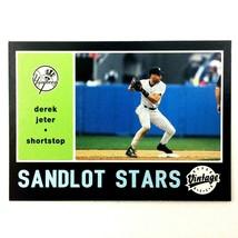 Derek Jeter 2002 Upper Deck Vintage Sandlot Stars Insert Card #2 Yankees... - $2.92