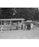 Glen Echo Caterpillar Riders At  Booth  8x10 Reprint Of Old Photo - $19.75