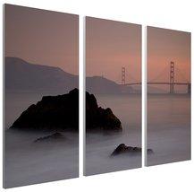"Pingo World 1221P8435F4 ""Moises Levy Rocks And Golden Gate Bridge"" Galle... - $128.65"