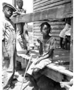 Black Children Sitting On Porch Reprint 8x10 Re... - $19.98